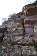 Rock Climbing Photo: near the bolt