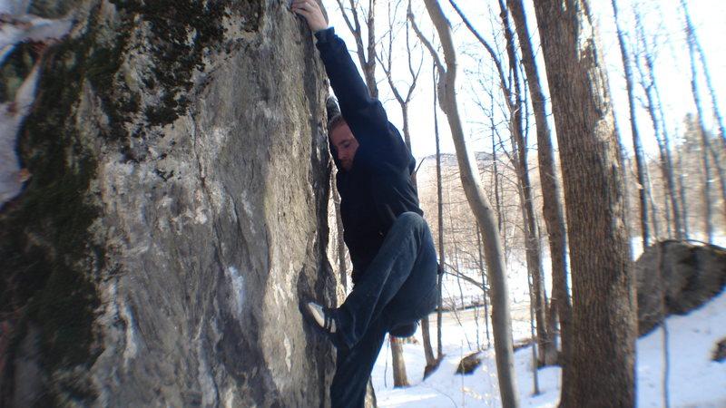 Me climbing McCandless