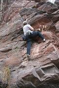 Rock Climbing Photo: The start off the ground.
