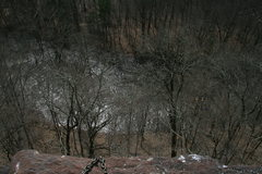 Rock Climbing Photo: Looking down at Tohickon Creek from set up of chai...