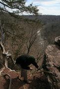 Rock Climbing Photo: Deaf and dumb TR set up.