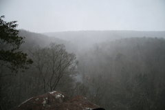 Rock Climbing Photo: Snow squall on top of chain reaction.
