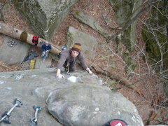 Rock Climbing Photo: John K on his second ascent of Master Marley  Phot...