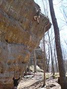 "Rock Climbing Photo: Stew sending ""Everybody Needs Friends"""