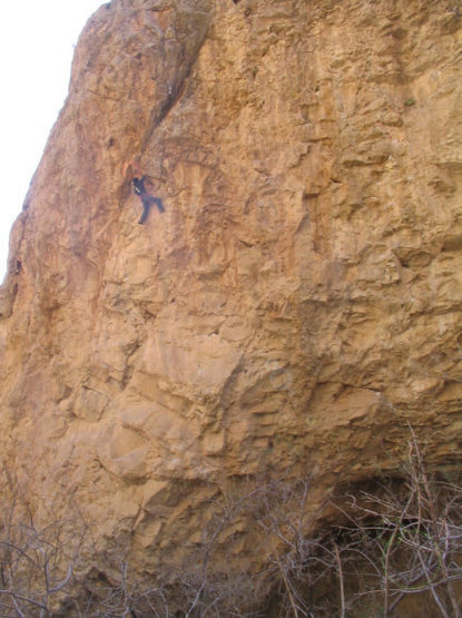 Spencer on the unnamed 11b at the swamp cave