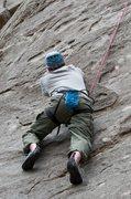 Rock Climbing Photo: Jon getting into it on Jodi