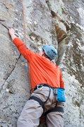Rock Climbing Photo: Jon using the face a bit on Lizards Tail.