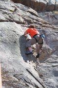 Rock Climbing Photo: Jon getting over the hump on Dancing Girls