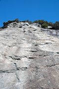 Rock Climbing Photo: Looking up the first pitch of #9.  This is after y...