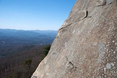 Rock Climbing Photo: Looking north (or so) from the belay point at the ...