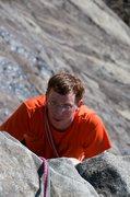 Rock Climbing Photo: Jon finishing up the last little bit on top of the...