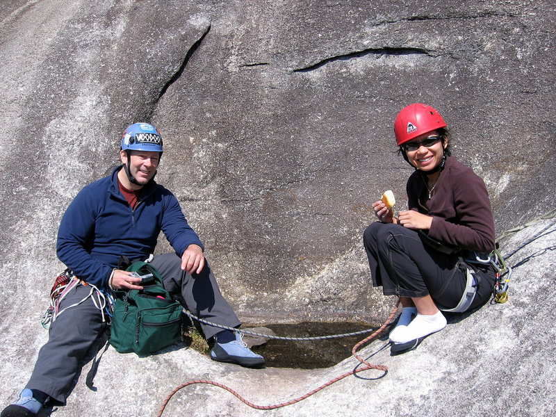 Rock Climbing Photo: After three pitches of climbing, the Oasis is a gr...