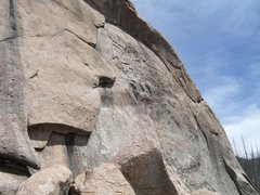 Rock Climbing Photo: Not Even climbs past 5 bolts through the middle of...