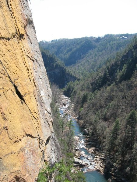 Tallulah Gorge from the 3rd pitch of Digital Delight.