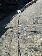Rock Climbing Photo: Matt following P2....