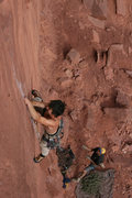 Rock Climbing Photo: trout hiking bad cat... alf belaying trout, two re...