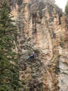 Rock Climbing Photo: Installing the bolts on Demanda, May 23, 2007. Pit...