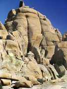 Rock Climbing Photo: Bighorm Mating Grotto from the Podium area vantage