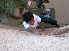Rock Climbing Photo: Jeffy is determined to get his Snack (V-easy), Jos...