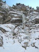 Rock Climbing Photo: Matt rappelling off Genuflect Falls.