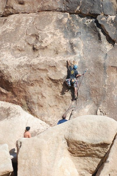 Rock Climbing Photo: Lluis Penalver-Aguila at the crux. Photo by Scott ...