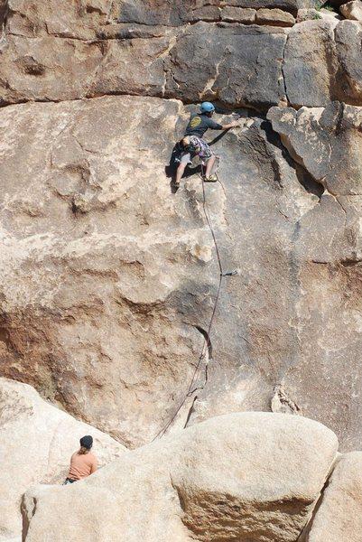 Rock Climbing Photo: Lluis higher up. Photo by Scott Nomi.