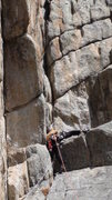 Rock Climbing Photo: Making the crux on the P1.