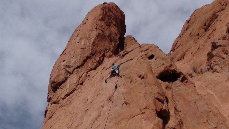 Rock Climbing Photo: Scotty Matz Nice warm up lead, I'd give it a 5.7.