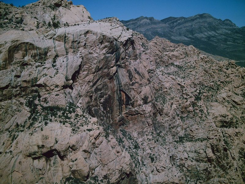 Rock Climbing Photo: This wall has no routes/ascents. It's somewhere be...