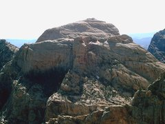 Rock Climbing Photo: The north west face a bridge Mtn. With the bridge ...