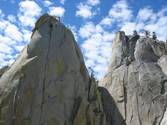 Rock Climbing Photo: The Sorcerer and the Charlatan - The Needles, Cali...