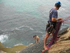 Rock Climbing Photo: Climbing with the most beautiful backdrop of the o...