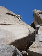 Rock Climbing Photo: Cory M. works up the face