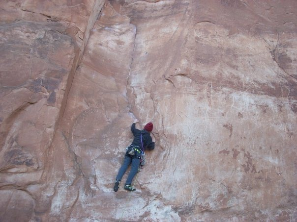 Rock Climbing Photo: Chilly morning on wall street