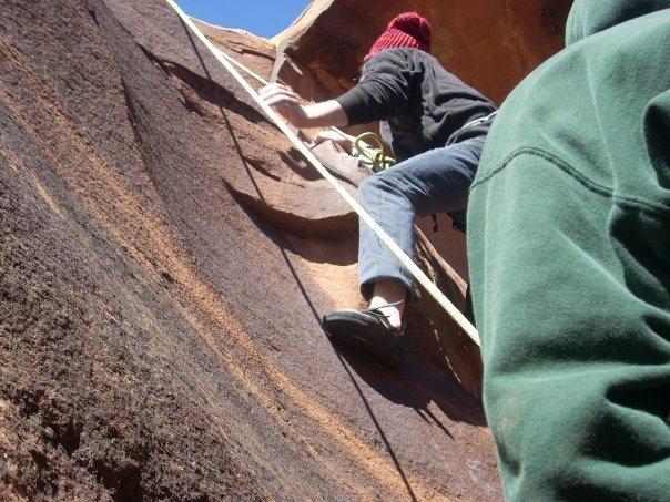 Rock Climbing Photo: Top roping is lame
