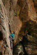 Rock Climbing Photo: Zeb on the slabish start...