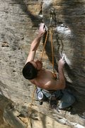 Rock Climbing Photo: Emile climbing with his middle fingers and his ton...