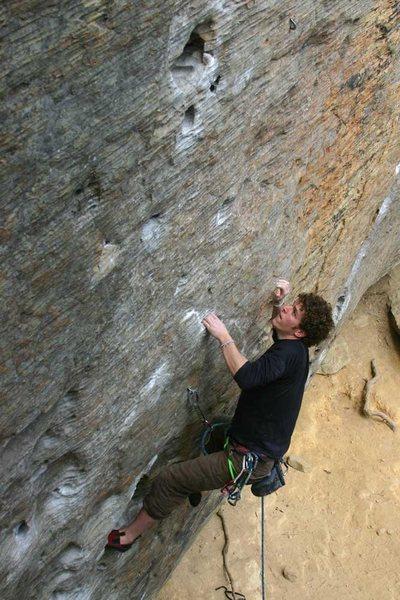 Rock Climbing Photo: Jason McGavin going for it...