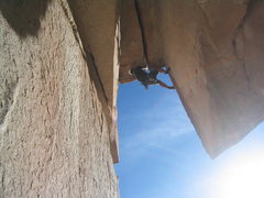 Rock Climbing Photo: Friend, Eric, pulling through the wide roof.  What...