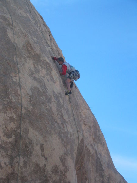 Hogan pulling the 10b crux and glad he's on TR, if I remember correctly.