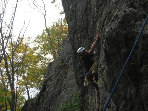 Rock Climbing Photo: Right before crux sequence