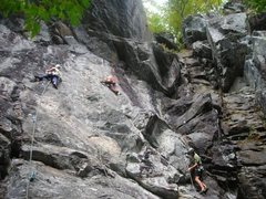 Rock Climbing Photo: Dunno names but I believe the lines being climbed ...