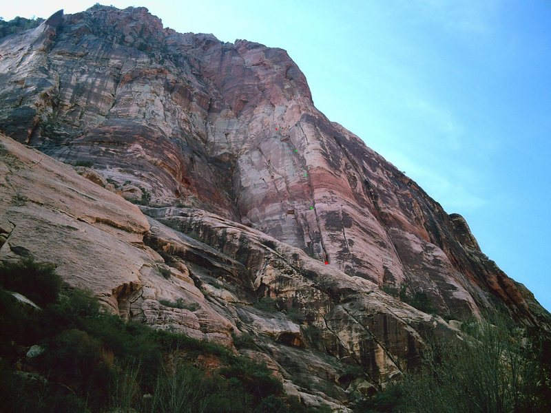 Rock Climbing Photo: X-15 from the drainage. The beginning and end of t...