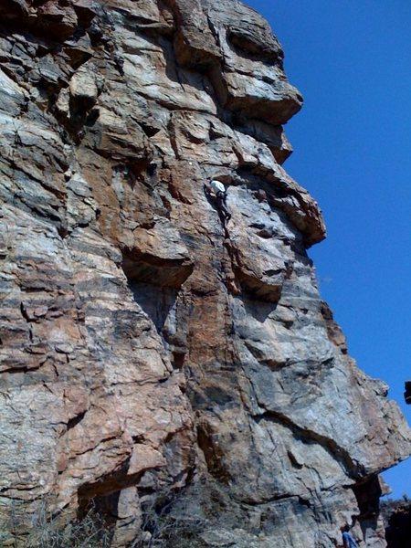 Rock Climbing Photo: Eric Rhicard gettin' the FA