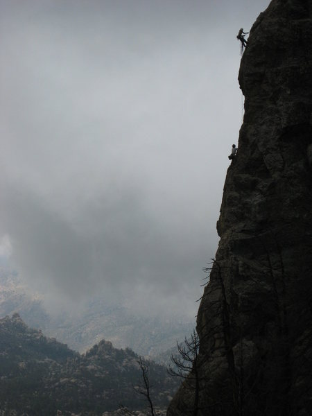Rock Climbing Photo: Unknown climbers (some gal and guy on what I belie...