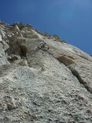Rock Climbing Photo: John Gillett on the gorgeous knobs of the 4th pitc...