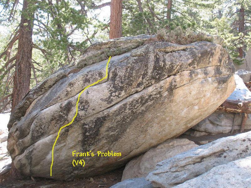 Rock Climbing Photo: Frank's Problem (V4), Tramway