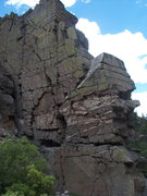 Rock Climbing Photo: West and south faces of The Airy Block/Roadside Fi...