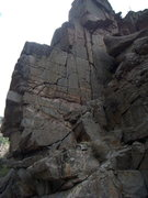 Rock Climbing Photo: East face of the Airy Block/Roadside Fin.