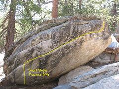 Rock Climbing Photo: Short Sloper Traverse (V4), Tramway